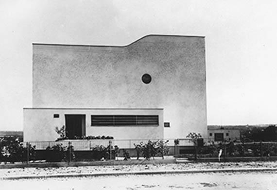 Čeněk House, north façade to the street, 1932