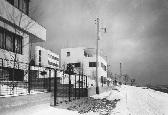 Nad Paťankou Street, from left: Maule House, Herain House, Janák House, 1932